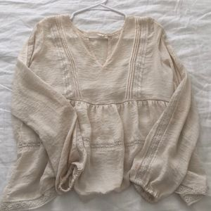 Off-White Peasant Blouse